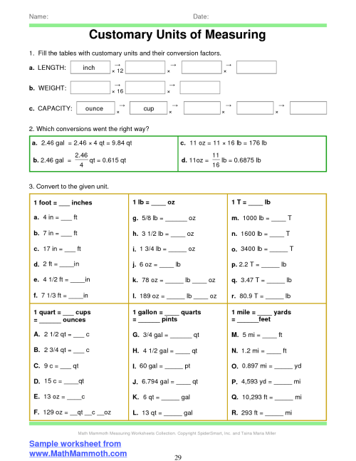 small resolution of 30 Converting Customary Units Worksheet - Worksheet Resource Plans
