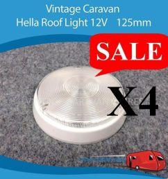 caravan roof ceiling light 12v x4 125mm hella viscount franklin jayco [ 1038 x 1024 Pixel ]