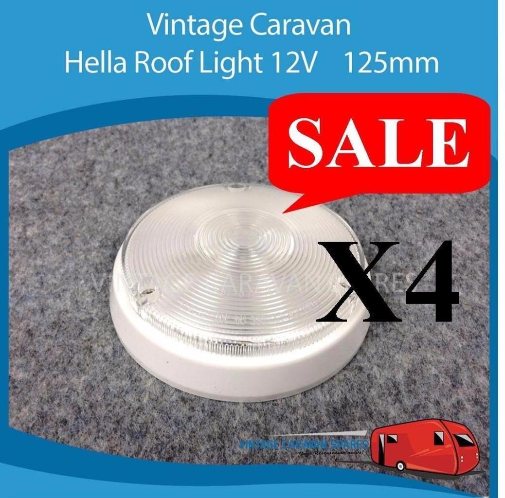 hight resolution of caravan roof ceiling light 12v x4 125mm hella viscount franklin jayco
