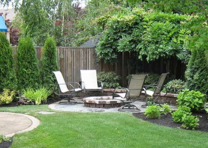 Small backyard landscaping ideas with chair design also outdoor spaces