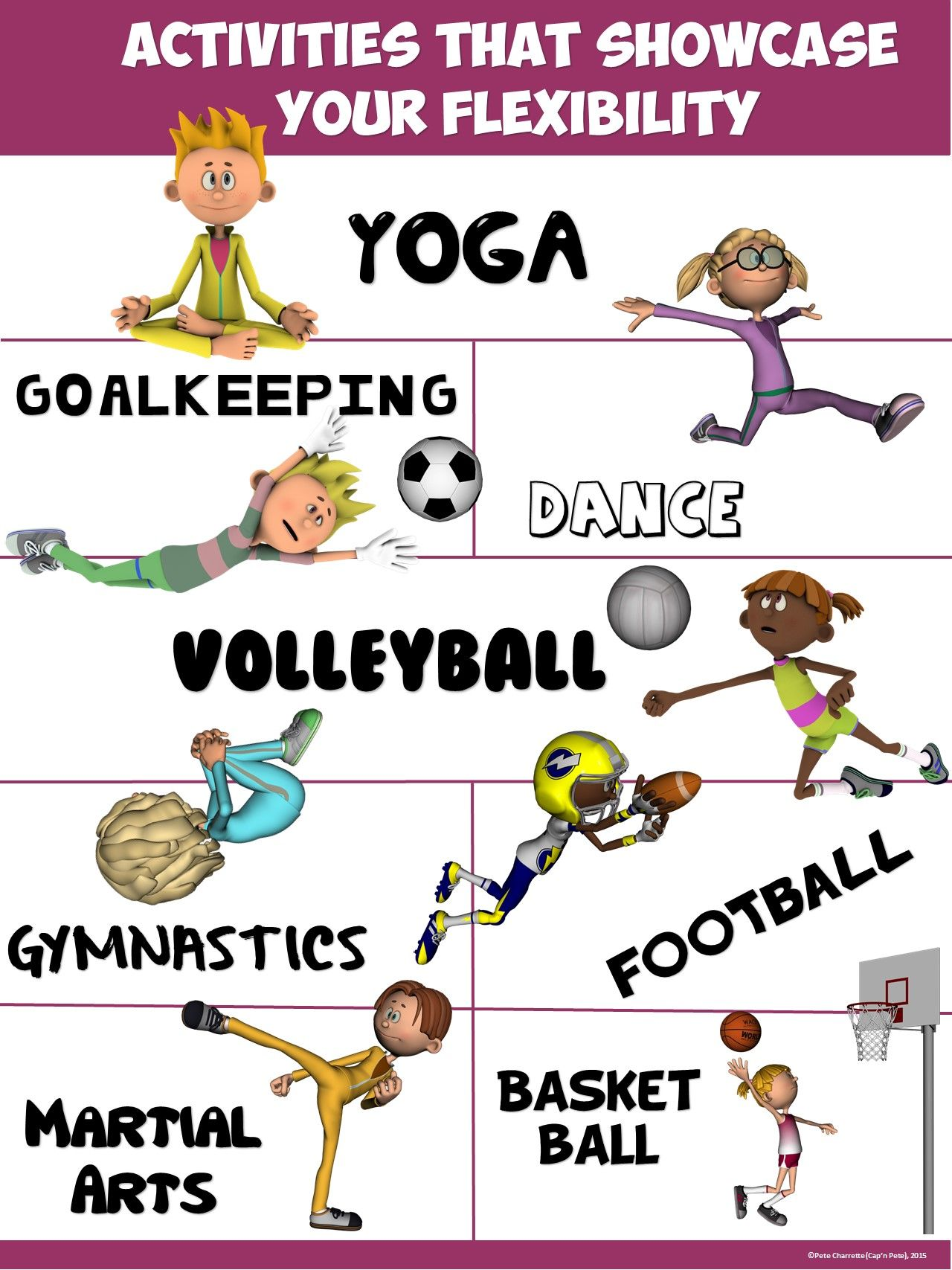 Pe Poster Activities That Showcase Your Flexibility