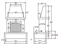 brick fireplace dimensions - Google Search | AutoCAD ...