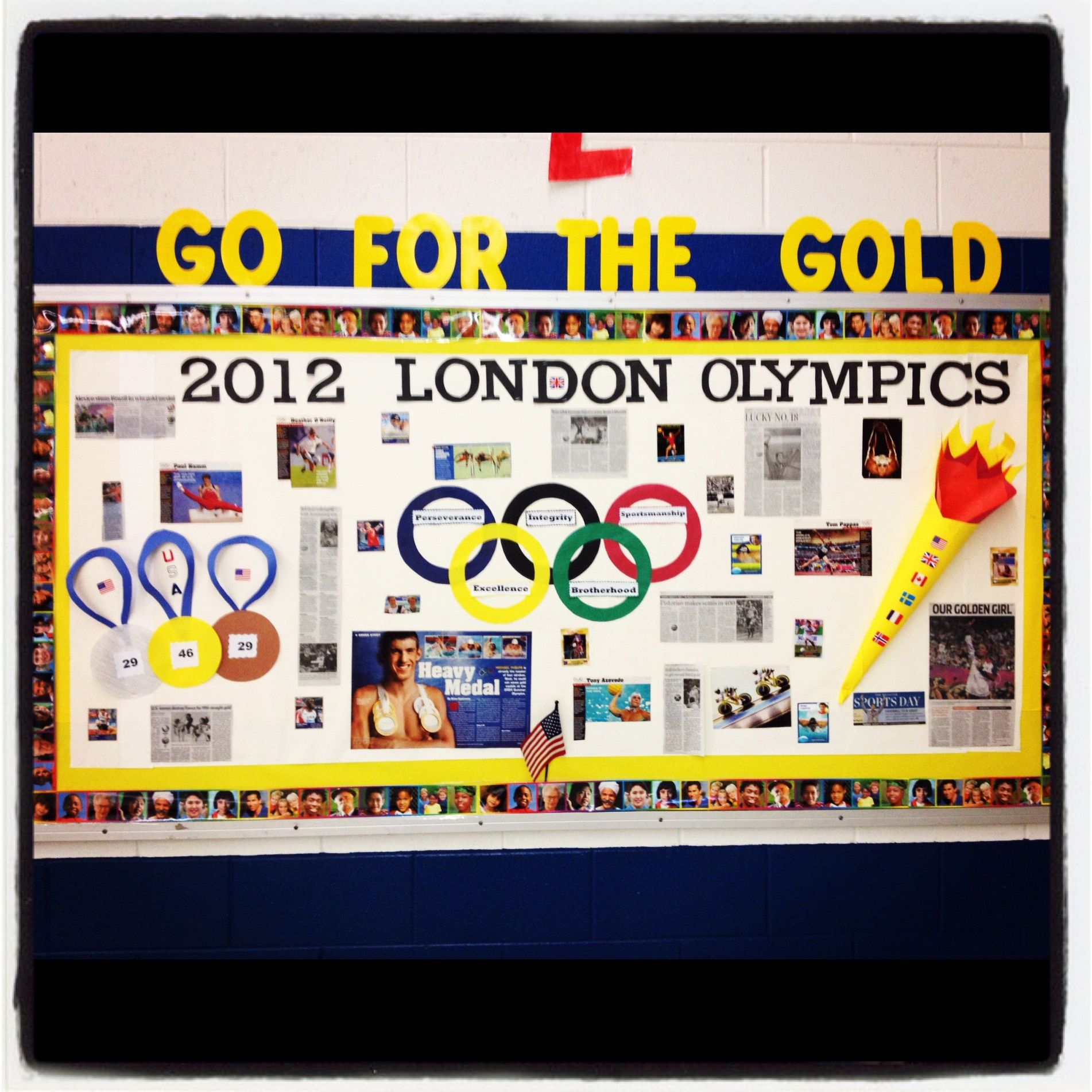 Go For The Gold Olympics Bulletin Board