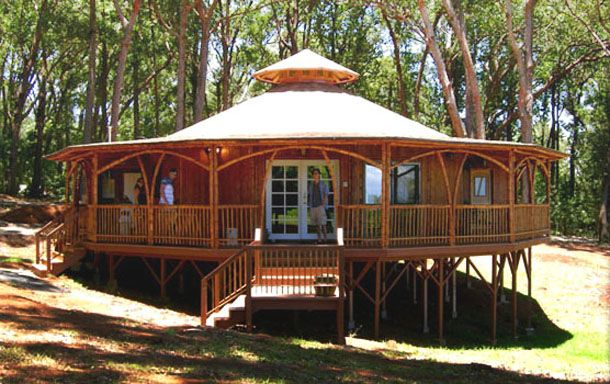 Pavilion Bamboo House Alternative For Green Home Plans Hahoy