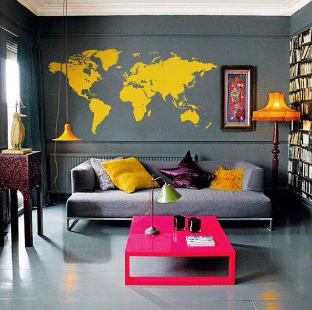 Room ideas yasssssss pop art bedroompink gray bedroomyellow walls living also my dream homey pinterest interiors rooms rh