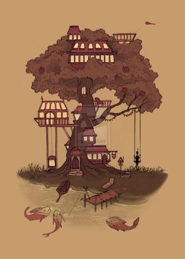 Treehouse Illustration
