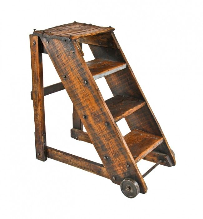 wooden step ladder chair plans  Objects  Pinterest