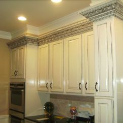 Decorative Molding Kitchen Cabinets Floor For White Custom With Black Gray Charcoal
