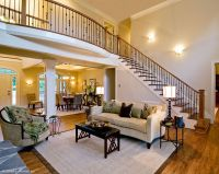 Beautiful stairs and balcony over this open floor plan ...