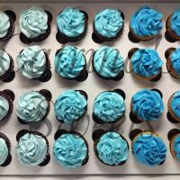 3 tone cupcakes for baby boy shower | Cakes | Pinterest ...