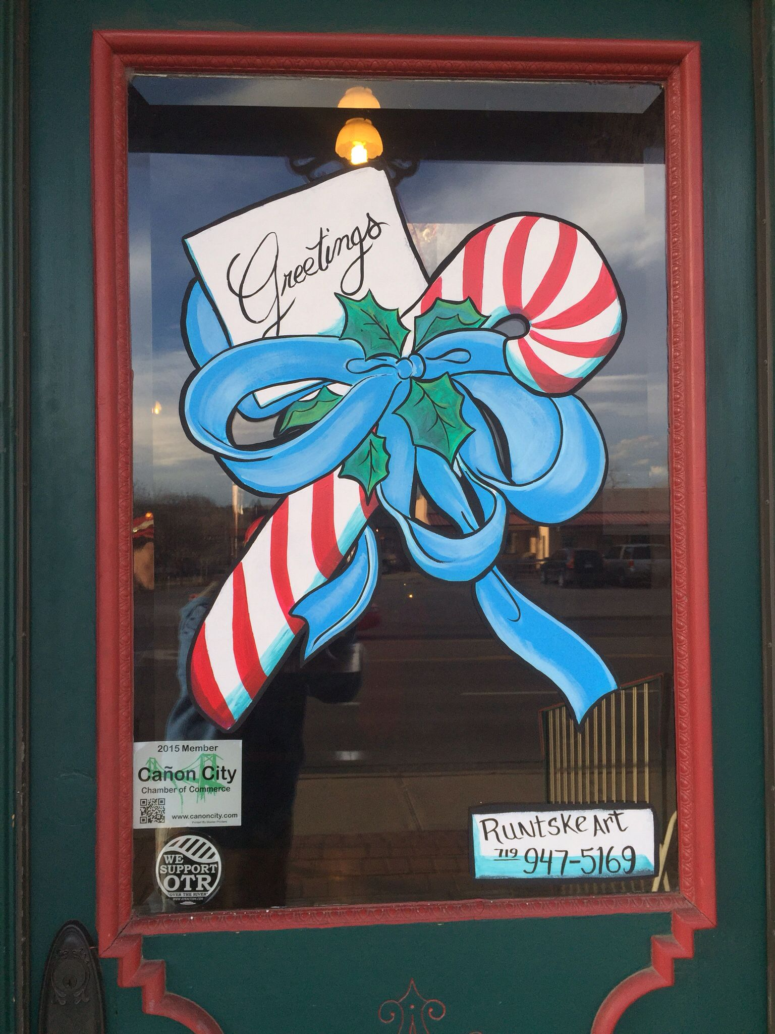 Christmas Window Painting Window Splash By Runtske Art