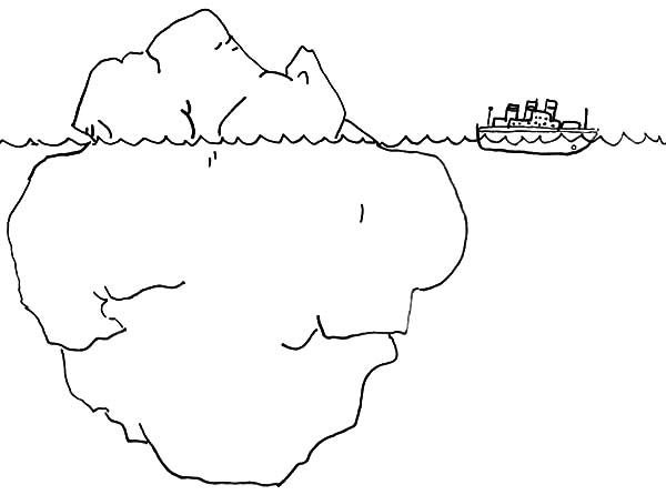 Anger Iceberg coloring page. Understand what is driving