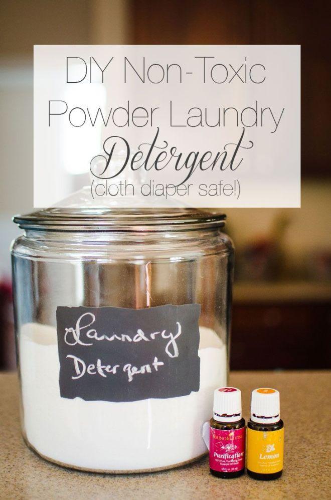 Diy nontoxic powder laundry detergent cloth diaper safe