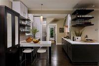 dark kitchen cabinets and dark wood floors | Kitchen ...
