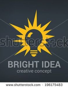 Creative bright new idea vector logo design template light bulb shine think research also rh pinterest