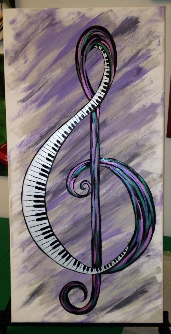 Playing . Canvas Art Plays Clef And Paintings