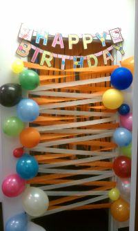 A nice birthday surprise for my coworker. birthday door