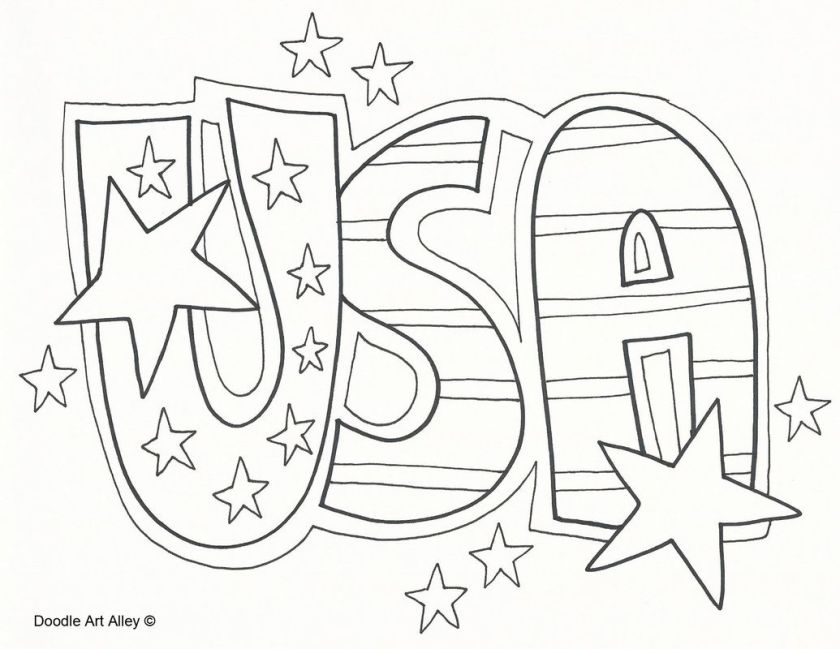 american celebrating independence day coloring pages