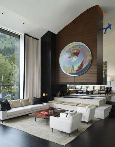 Contemporary aspen home is  visual art feast by stonefox design also rh pinterest