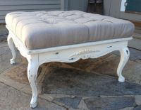 french country ottoman furniture | Vintage Painted French ...