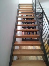 STAIRS I Modern steel stringer stair, three inch douglas ...