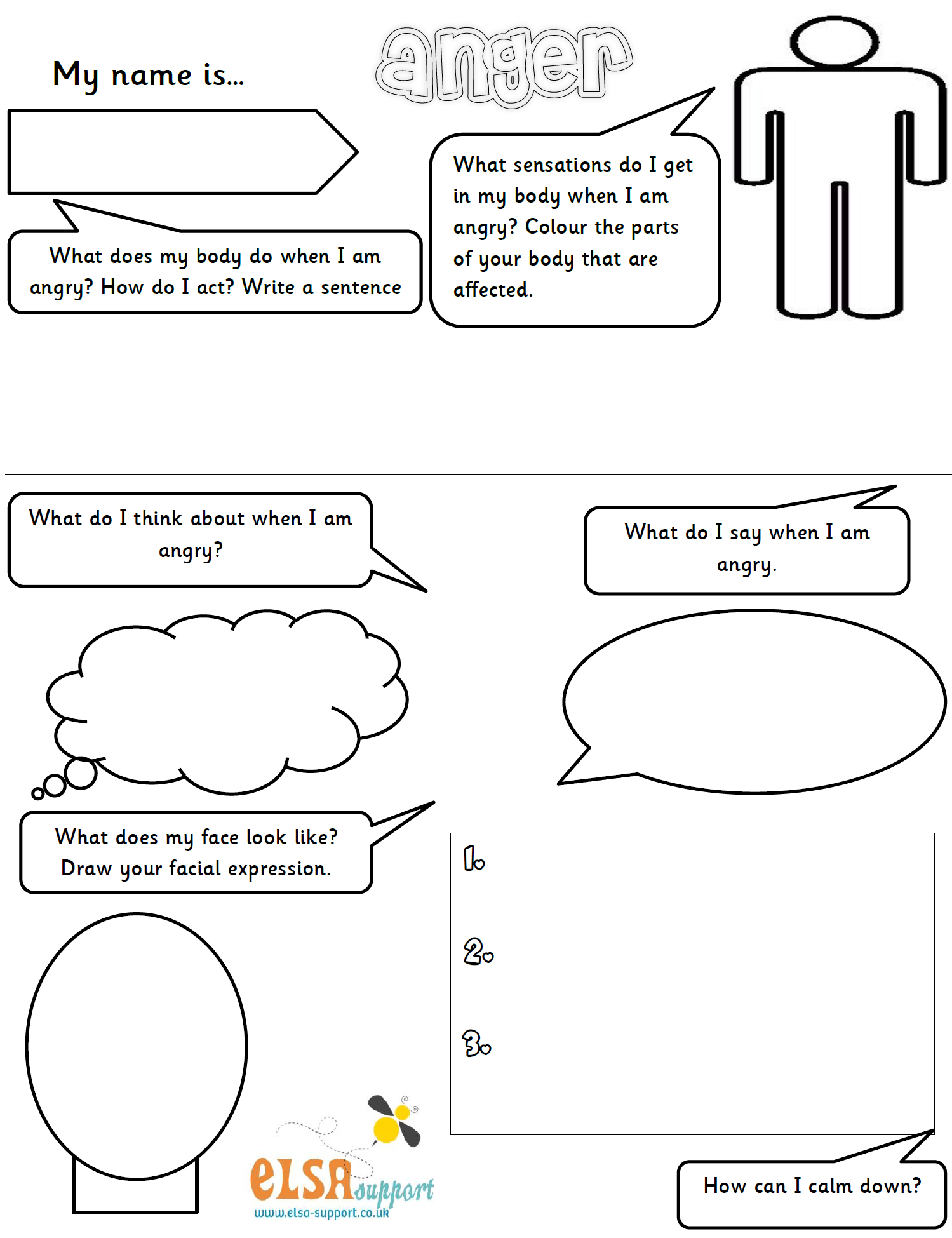 Anger Worksheet