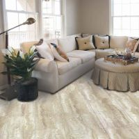 12 in. x 24 in. Light Grey Travertine Peel and Stick Vinyl ...