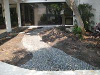 River Rock Walkway - | Home - Landscape walkway/edging ...
