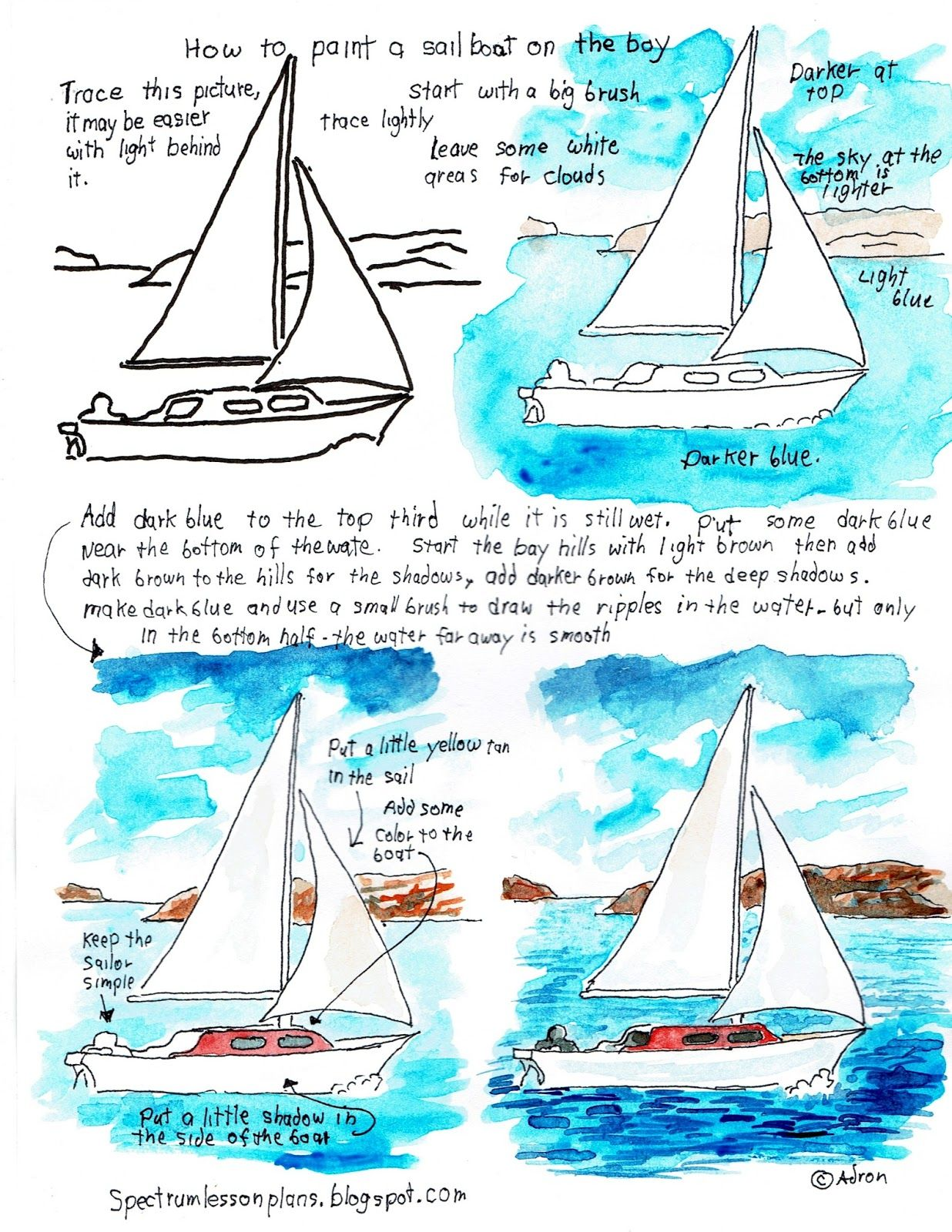 Adron S Art Lesson Plans Printable How To Paint Worksheet