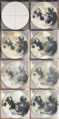 Moon painting tutorial - using Acrylic Paint and sponge ...