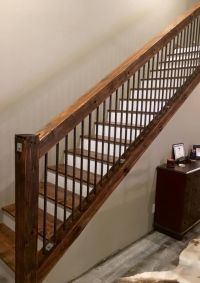 Rustic Old utility pole cross arms reclaimed into Stair ...