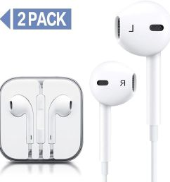 pack wire headphones earbuds with mic earphones and remote control for apple iphone ipod ipad samsung galaxy white white continue to the product at  [ 1500 x 1500 Pixel ]