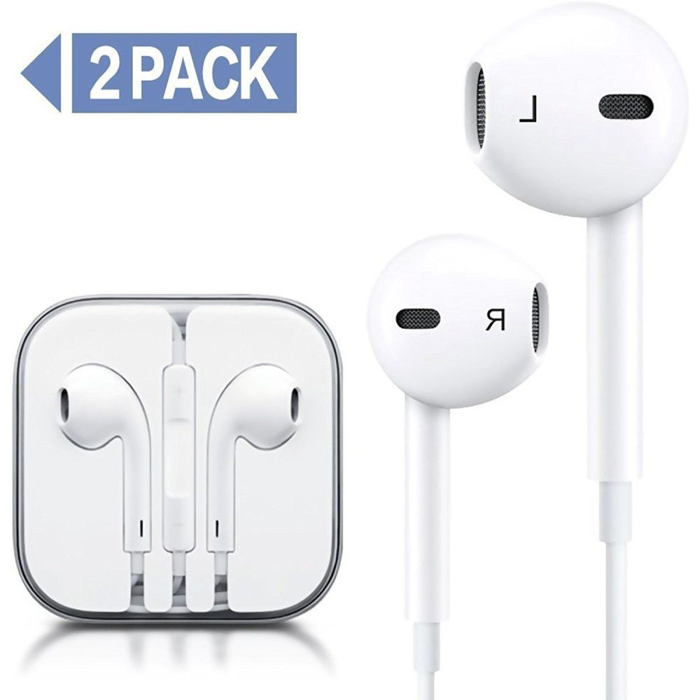 medium resolution of pack wire headphones earbuds with mic earphones and remote control for apple iphone ipod ipad samsung galaxy white white continue to the product at