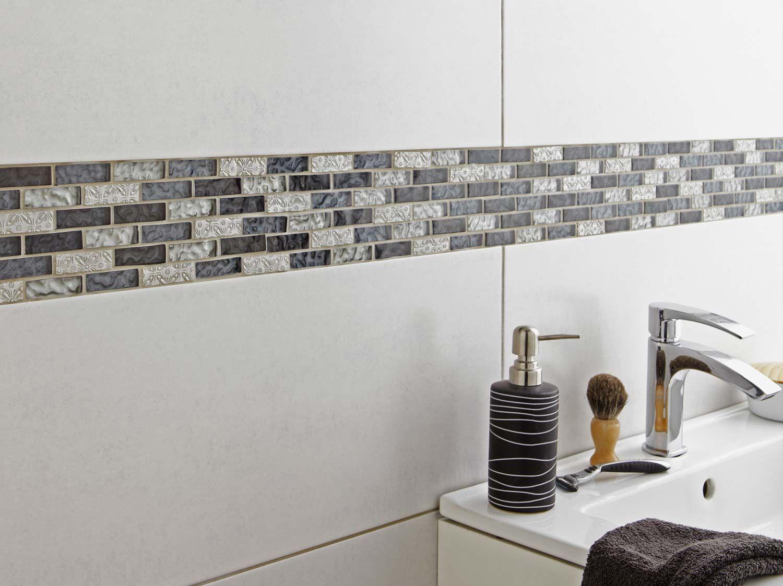 Google s adhesive and google on pinterest for Carrelage salle de bain hauteur