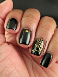 #Black Simple Elegant Nail Art | fashionref | Nails Art ...