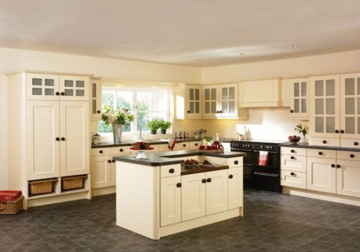 Flooring That Matches Cream Colored Cabinets Kitchen Kitchenidease Com