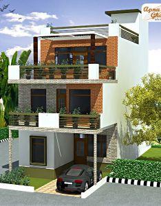 bedroom modern triplex floor house design area sq also mts rh za pinterest
