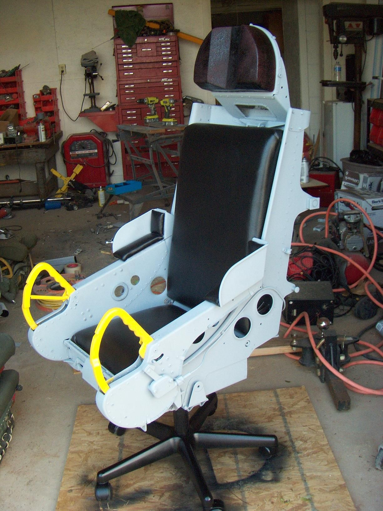 B66 Ejection seat converted to an office chair  For the
