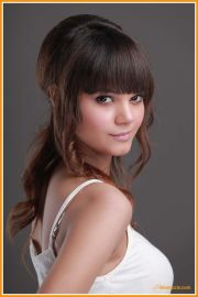 medium hairstyle with bangs 2013