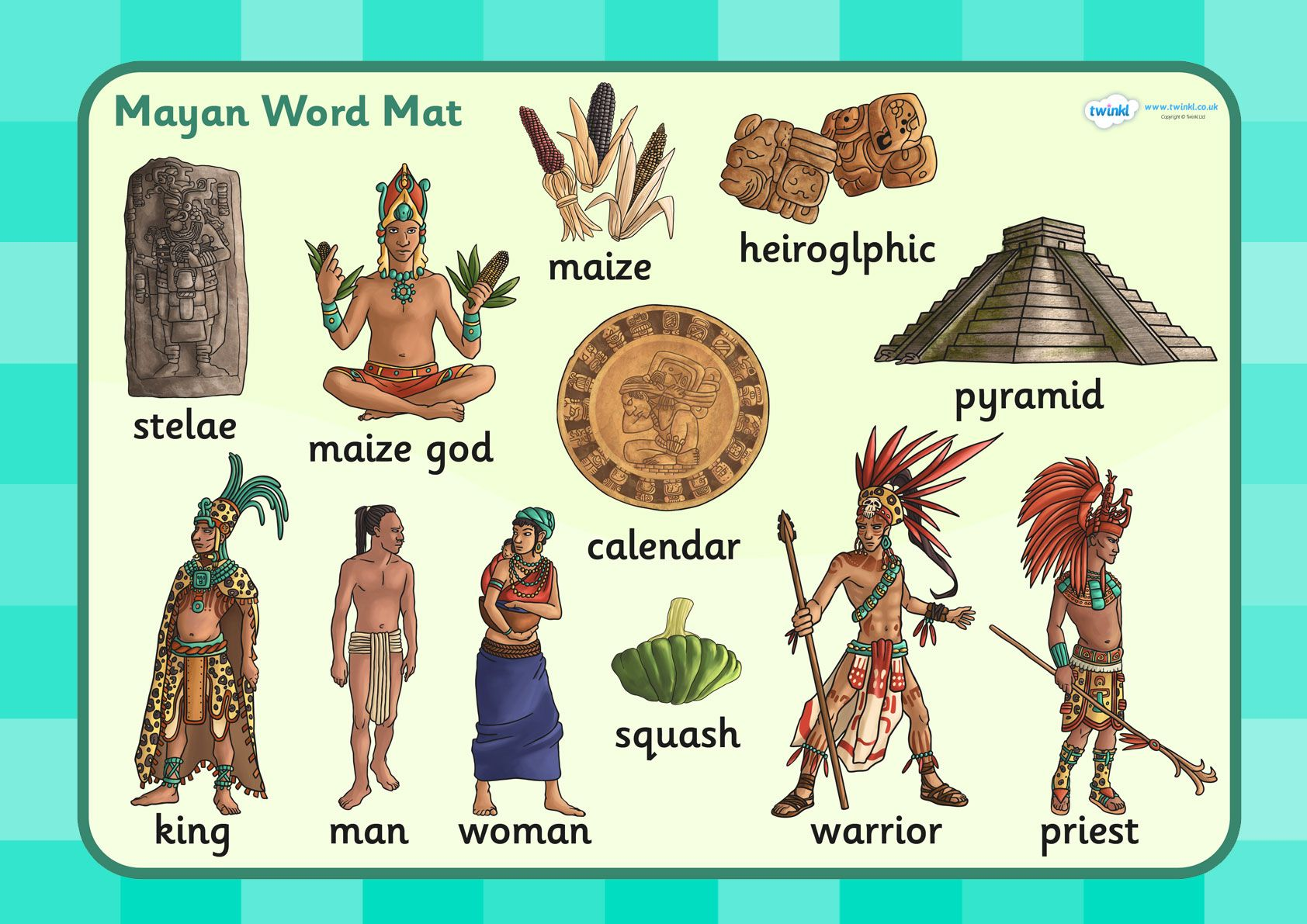 Ks2 Mayan Civilization Word Mat