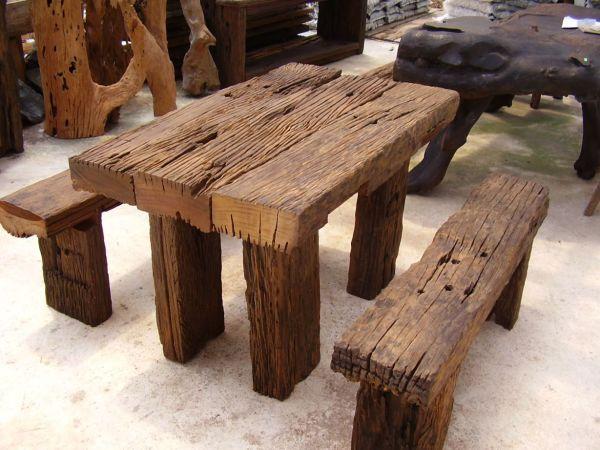 Rustic Wood Outdoor Furniture