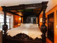 FOUR POSTER BED KING 4 POST CANOPY BED FRAME CARVED ...