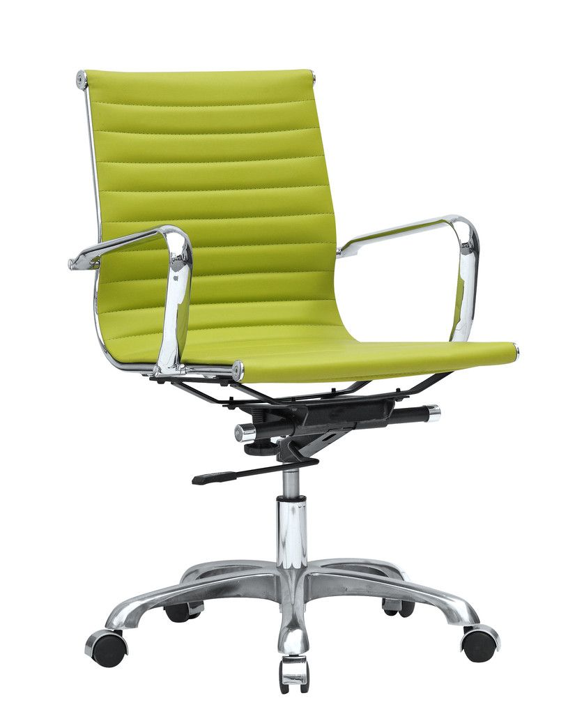 Mid Century Modern Conference Office Chair Mid Back Lime