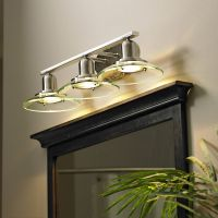 Shop allen + roth 3-Light Galileo Brushed Nickel Standard ...