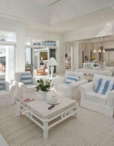chic beach house interior design ideas also playa casas de verano  rh es pinterest