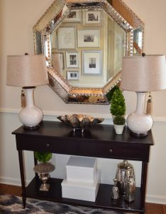 Entry console table height the sole way to cover that ugly radiator up beckoning entrance extra storage in hall also http argharts pinterest rh za