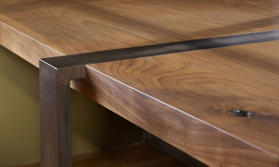 wood and metal desk  About Alejandro  Robert Luna