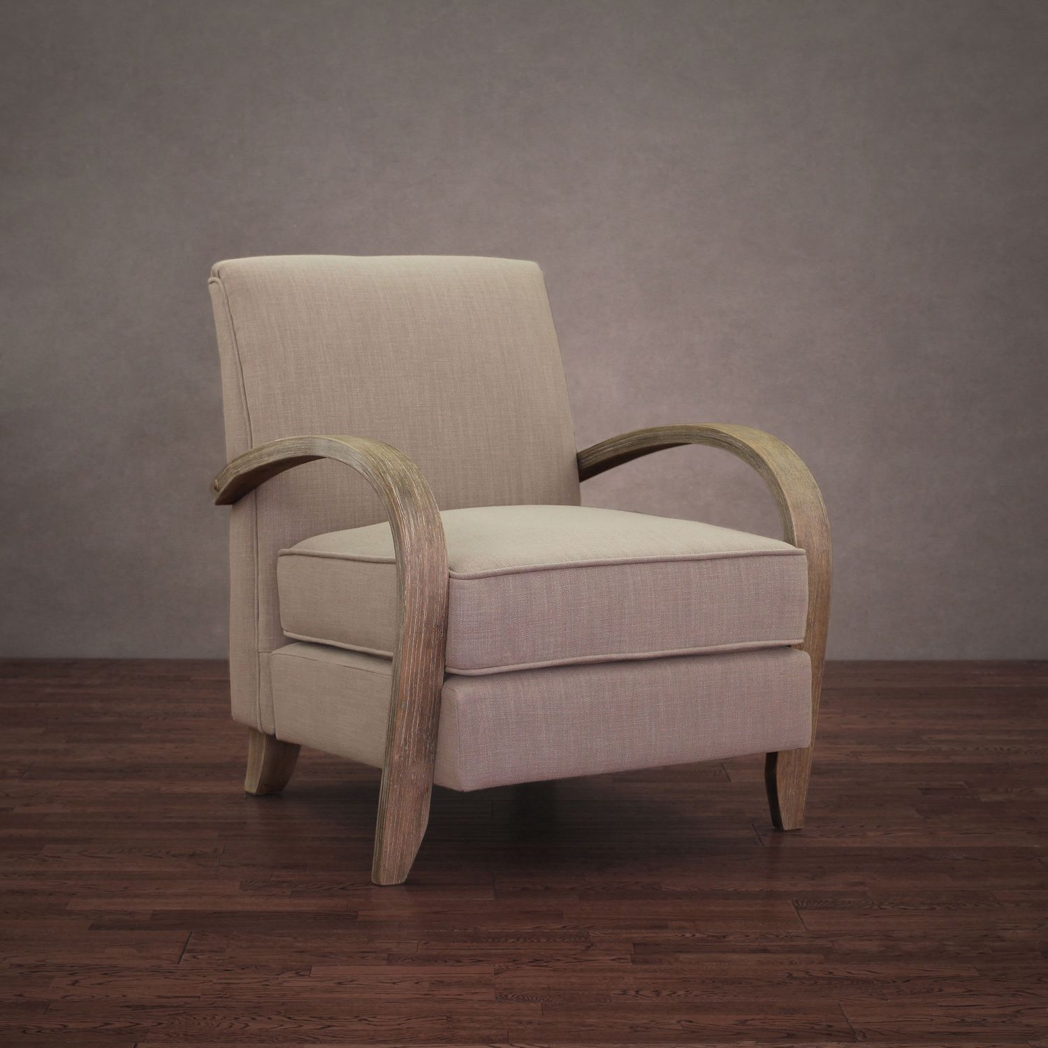 Armchairs & Accent Chairs Bloomington Beige Linen Arm Chair By I Love Living