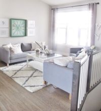 Look at this clean and crisp living room styled by white ...