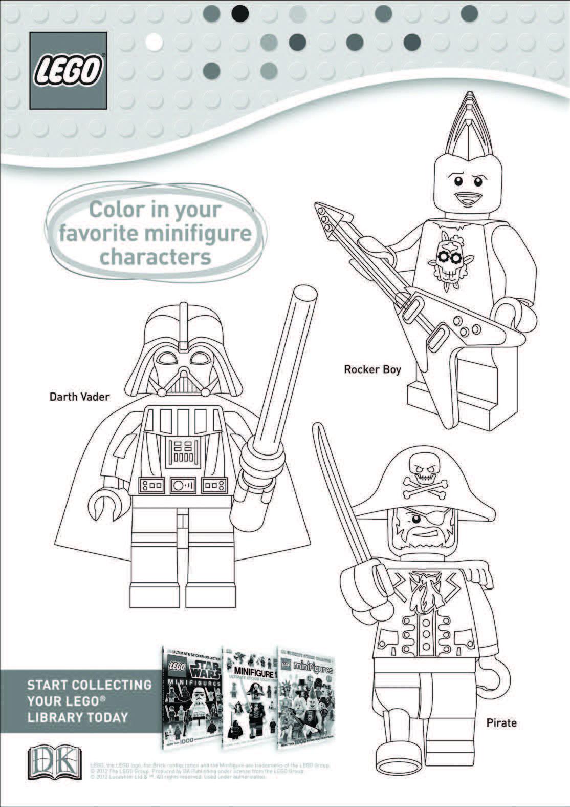 Lego Coloring Sheet Disney Orlando